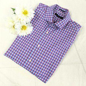 Tommy Hilfiger Purple & Blue Plaid Button-up